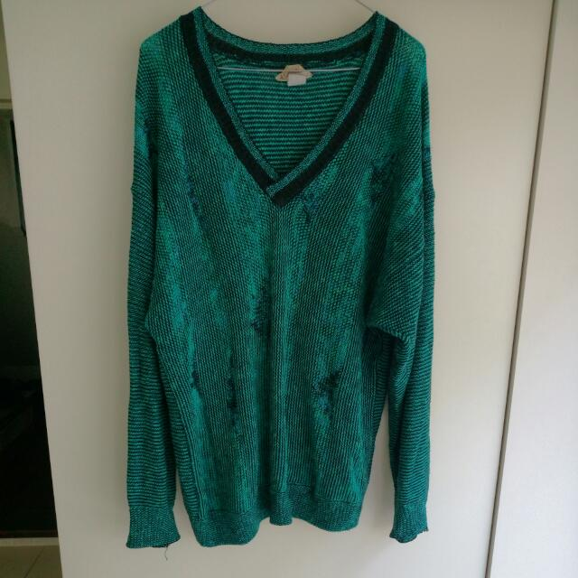 Men's Vintage Italian Marino Wool Jumper