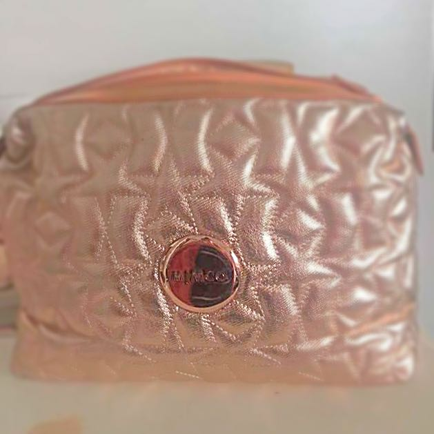 Mimco Rose Gold Cosmetic Bag