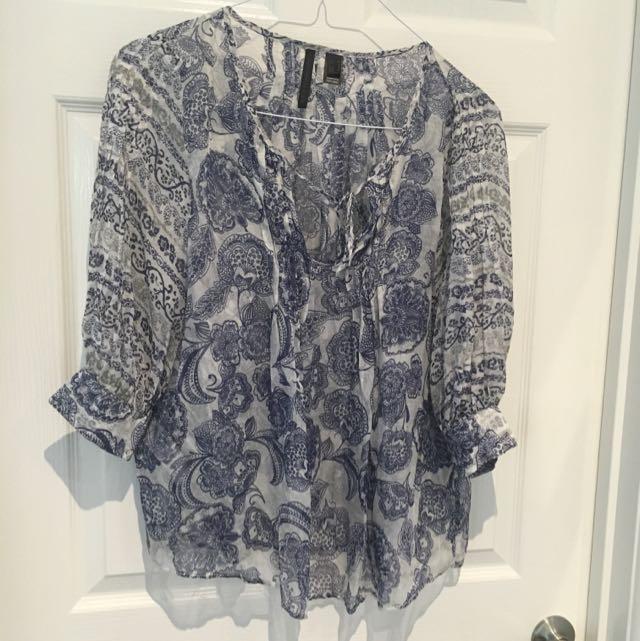 MNG Silk Blouse Size M