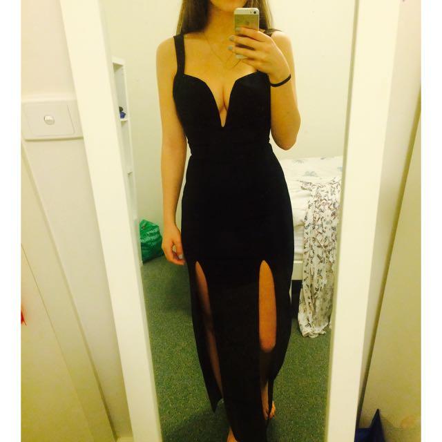 NIKA BLOSSOM Formal Black Dress