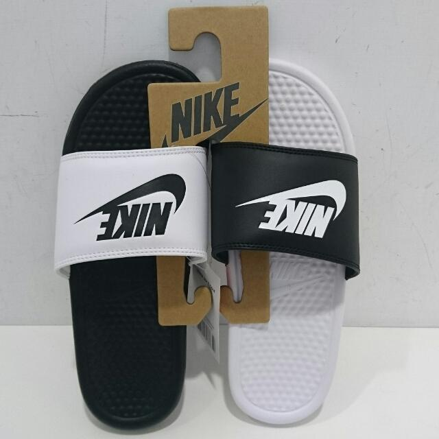 Nike 經典拖鞋 ,陰陽鞋 全新 ,黑白鞋 男女尺碼都有 正品818736-011