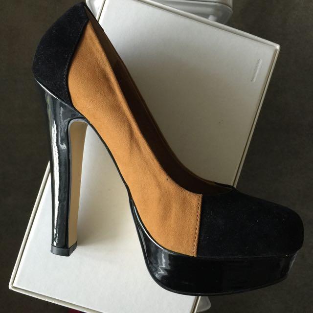Novo Black/Tan Heels