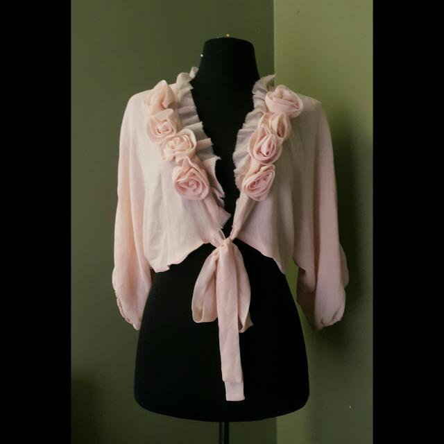Pink Manila Cover Up. Very Chic And Makes A Statement. Free size.