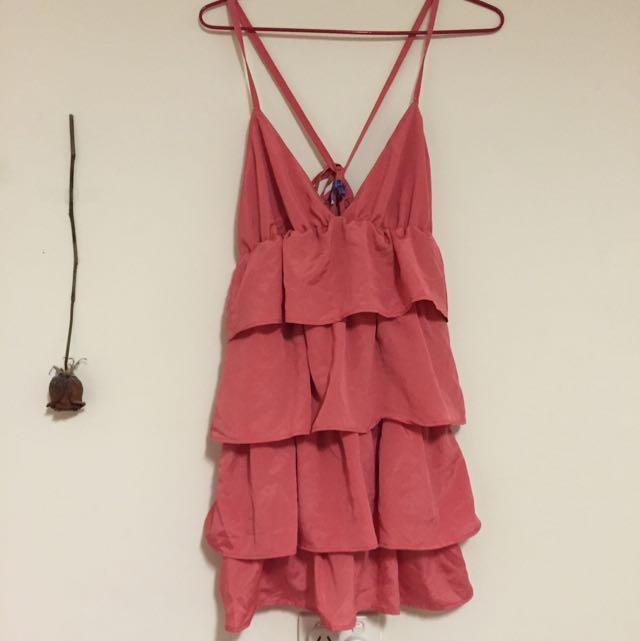 Pink Short Clubbing Dress Size M