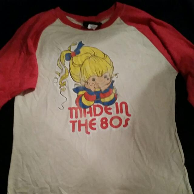 Rainbow Bright Henley Shirt Junk Food Brand SIZE M