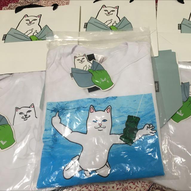 Ripndip 中指貓  夏日游泳box短t   非remix  jordan  bape  levis