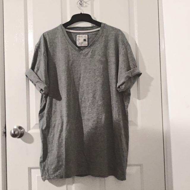 Rivers Grey V Neck Shirt