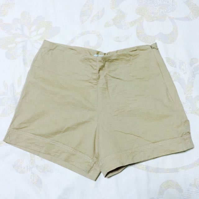 Shapes Beige High-waisted Shorts