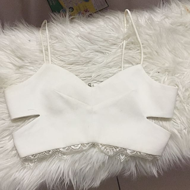 Small Size 8/ Size 6 White Midriff (tight Fit)