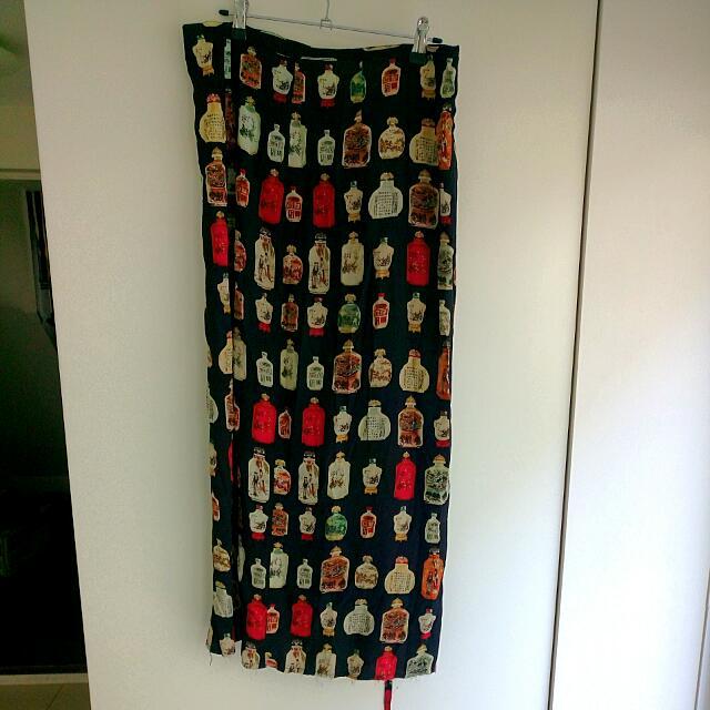 Tie-up Japanese Bottle Skirt