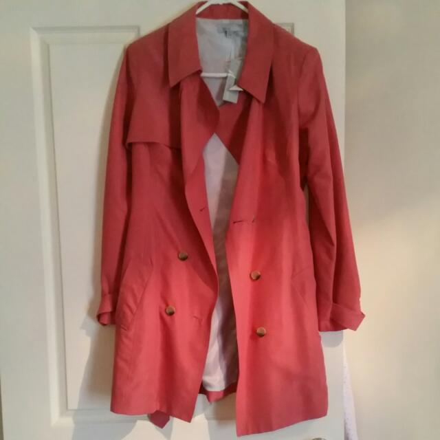 Trench Coat New With Tag Size M Resort Report Brand