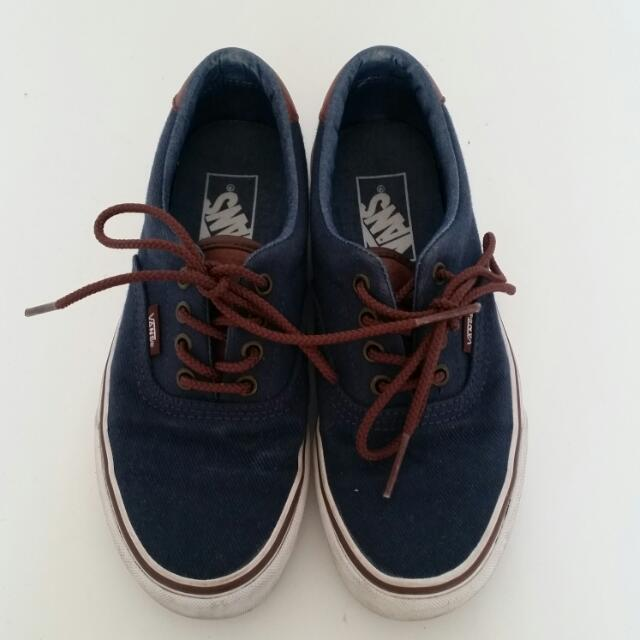 Vans Navy Blue Shoes Sz 5.5