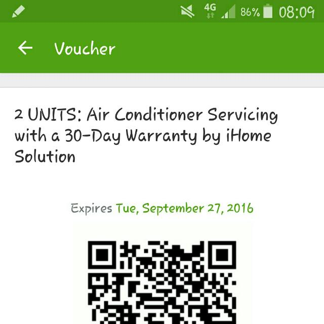 Voucher For 2 Units Aircon Cleaning