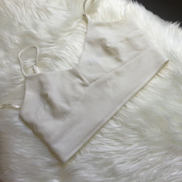 White Bralette Size 14