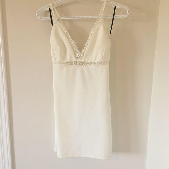 White Lace Trim BodyCon