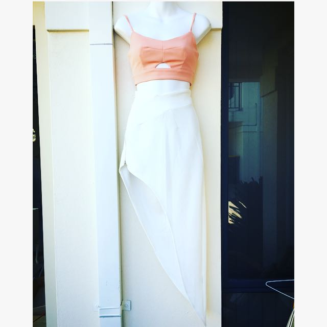 White Split Skirt