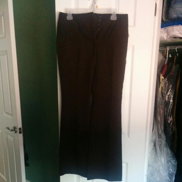 Suzy Shier Chocolate Brown Dress Pants