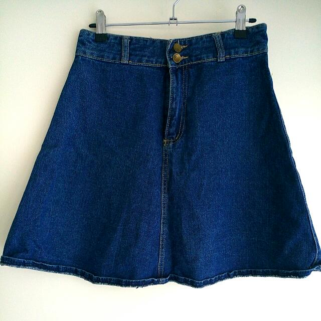 Women's Lan Ting Denim Skirt
