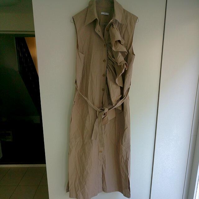 Women's TOME Ruffle-front Designer Dress