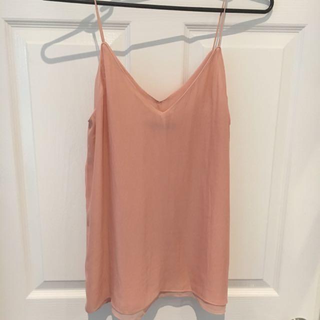 Zara Size M Blush Top