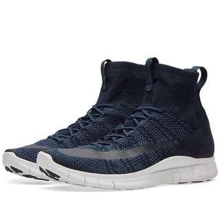 Nike Free Flyknit Mercurial Superfly 667978-441 深藍色 9.5