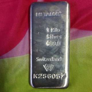 Metalor Silver Bar With Certificate