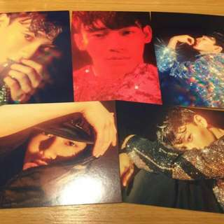 W Korea Postcard EXO KPOP CHEN 첸 엑소