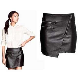 H&M Leather Skirt / Rok Kulit / Rok HnM