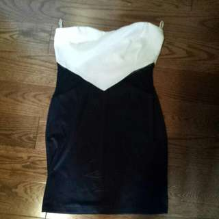 Black And White Clubbing Dress