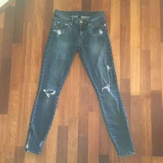 Nobody Distressed Skinny Jeans 24/6