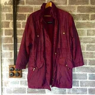 Retro Purple Shimmer Anorak Size 14