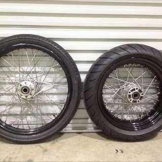Rim And Tyre. Wheel Set For Harley Davidson Dyna
