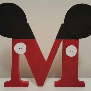 Handmade Mickey Mouse Letter Sign