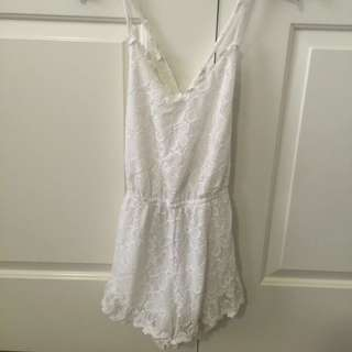 Flower Open Back Playsuit