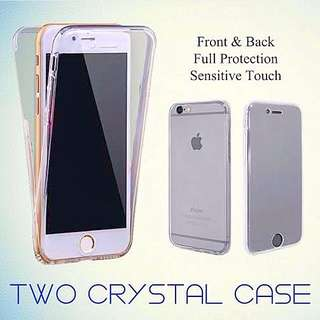 360 Protection/Two Crystal Case for iPhone 5/5s/SE/6/6s/6+/6s+