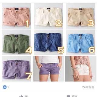 AE品牌休閒短褲