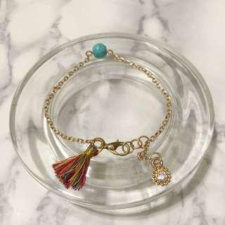 *NEW* Handmade Tassel Bracelet (rainbow)