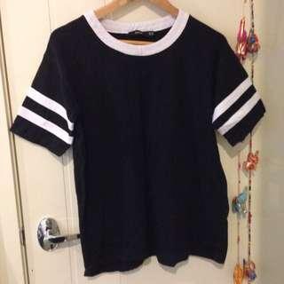 Black & White T-Shirt, Size 10