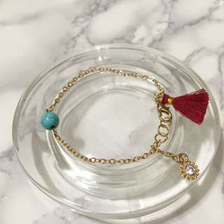 *NEW* Handmade Tassel Bracelet (Red)