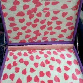 心型絨布飾品展示盒