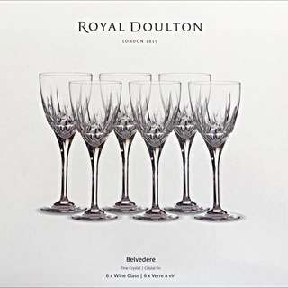 ROYAL DOULTON BELVEDERE WINE GLASSES
