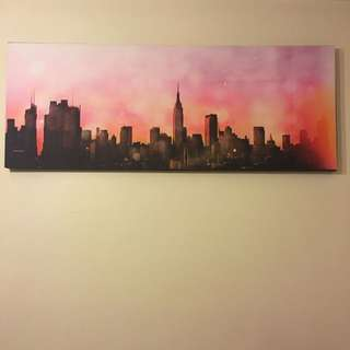 Empire State Building Skyline Wall Print