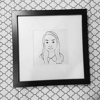 Digital Portrait With Frame