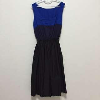 Tricoloured Colour Block Dress