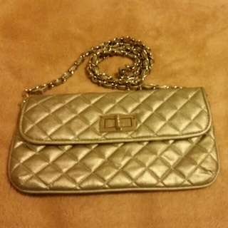 Silver Clutch By Colette With Removable Strap