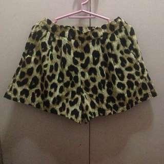 Leopard Skorts