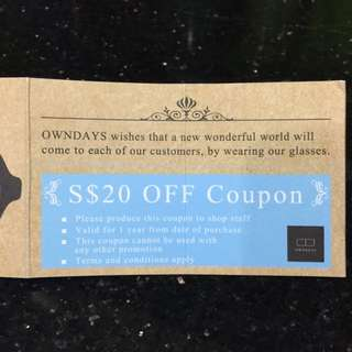 GiveAway: Owndays $20 Voucher