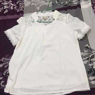 白色蕾絲衣服(含運