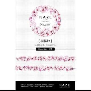 紙膠帶 Kaze櫻花抄