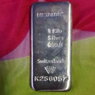 Metalor Silver Bar 1KG